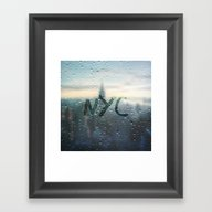 Rainy Day In NYC Framed Art Print