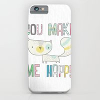 iPhone & iPod Case featuring make me happy by Berreca