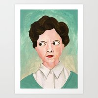 Miss Unbelievably Angry Art Print