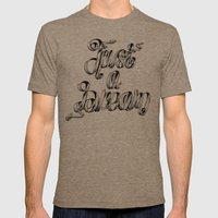 Just A Dream Mens Fitted Tee Tri-Coffee SMALL