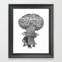 Atomic Turtle Framed Art Print