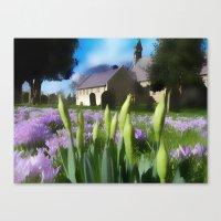 Church with artistic blur Canvas Print