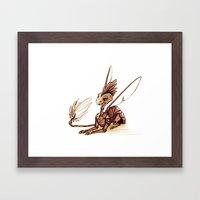 Robot Dragon Framed Art Print