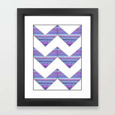 Patterned chevrons Framed Art Print