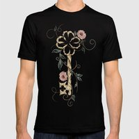 Key Lucky  Mens Fitted Tee Black SMALL