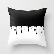 Dripping Throw Pillow