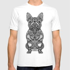 Mandala Frenchie SMALL Mens Fitted Tee White