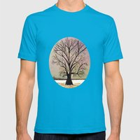 Winter morning Mens Fitted Tee Teal SMALL