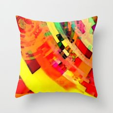 Playa del Carmen Sun No.1 Throw Pillow