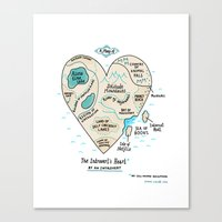 A Map of the Introvert's Heart Canvas Print