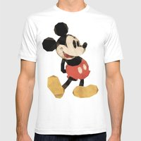 Mr. Mickey Mouse Mens Fitted Tee White SMALL