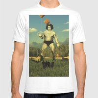 André Waz 'ere Mens Fitted Tee White SMALL