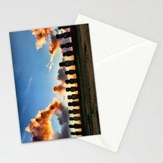 Sunrise behind the Moai Stationery Cards