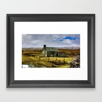 Derilict in the Yorks Dales Framed Art Print