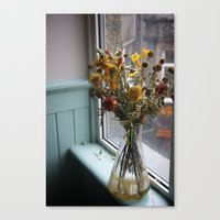 Canvas Print featuring Flowers in a vase by Elise Tyv