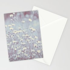 Wild Abandon -- Dreamy Fleabane Daisies in Lavender Gray Mist Stationery Cards