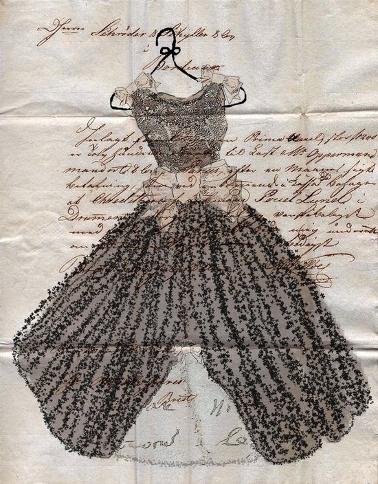 Fancy Dress on French Ephemera Art Print