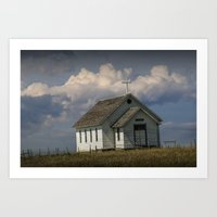 Old Rural Country Church… Art Print