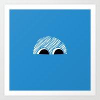 Block Eyes Art Print