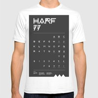Harf 77 Poster (Black) Mens Fitted Tee White SMALL