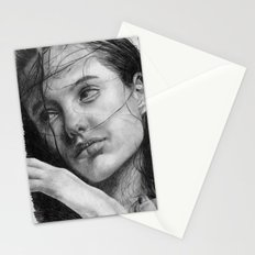 Angelina Jolie Traditional Portrait Print Stationery Cards