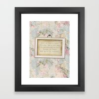 Faded Rose Framed Art Print