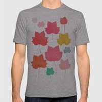 Mapleleaf 1 Mens Fitted Tee Athletic Grey SMALL
