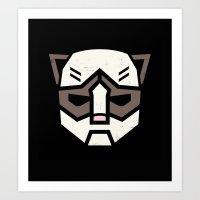 Grumpybot Art Print