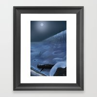 The Watcher On The Walls… Framed Art Print