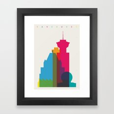 Shapes of Vancouver. Accurate to scale. Framed Art Print