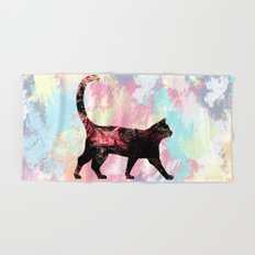 Abstract Cat  Hand & Bath Towel