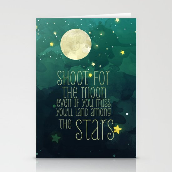 The moon and stars Stationery Card