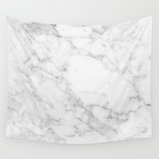 Marble white and grey Wall Tapestry