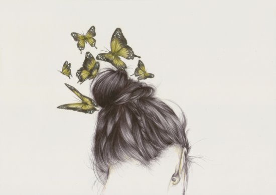 Hair II Art Print