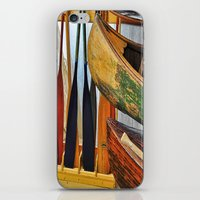 Oars And Canoes iPhone & iPod Skin