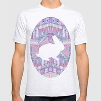 Rabbit Pattern Mens Fitted Tee Ash Grey SMALL