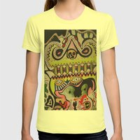 crocodile eyes Womens Fitted Tee Lemon SMALL
