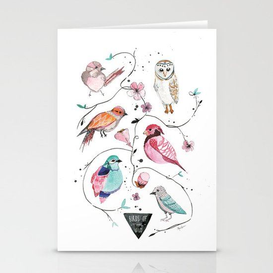 BIRDS OF THE WILD Stationery Card