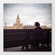 London Big Ben with a Guy Canvas Print