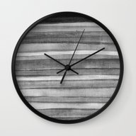 Wall Clock featuring Watercolor B&W by André D