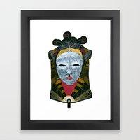 Black MASK Framed Art Print