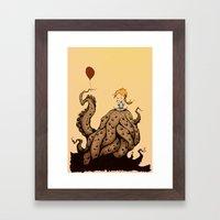 little monster girl Framed Art Print