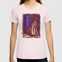You Comin' Blondie?  Womens Fitted Tee Light Pink SMALL