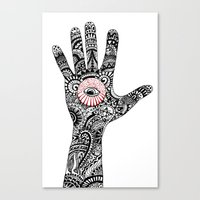 hand that feeds Canvas Print