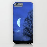 iPhone & iPod Case featuring Moon between Trees  - JUSTART © by JUSTART