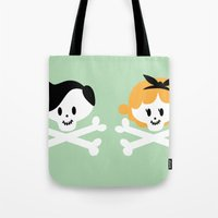Teen Skulls Tote Bag
