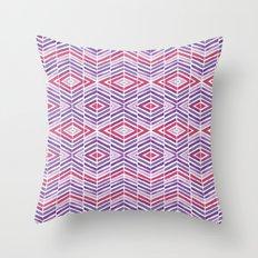 Gem Tone Watercolor Diamonds Throw Pillow