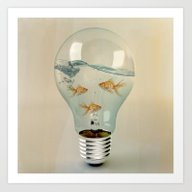 Ideas And Goldfish 03 Art Print