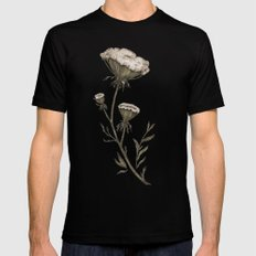 Queen Anne's Lace Black SMALL Mens Fitted Tee