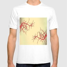 branches#03 Mens Fitted Tee SMALL White
